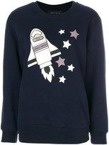 Frankie Morello space print sweatshirt