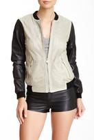 Andrew Marc Mesh Leather Jacket