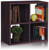 """Way Basics zBoard Storage Quad 25""""Cube Unit Bookcase"""