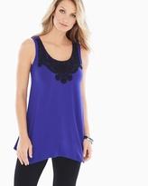 Soma Intimates Soft Jersey Crochet Trim Sleeveless Tunic Royal Blue