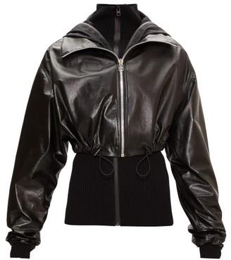 Bottega Veneta Layered Cropped Leather Jacket - Black