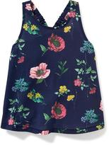 Old Navy Floral-Print Bow-Back Tank for Toddler