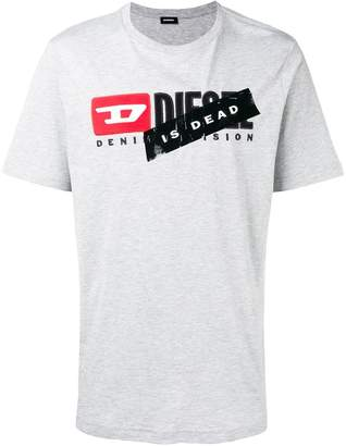 Diesel logo slogan print T-shirt