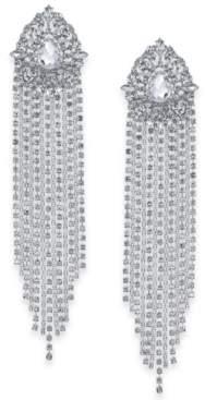 Thalia Sodi Silver-Tone Crystal Statement Earrings, Created For Macy's