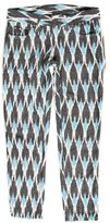 Sea Abstract Mid-Rise Pants