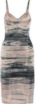 Raquel Allegra Tie-dyed stretch-silk dress
