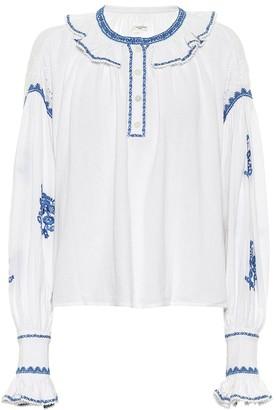 Etoile Isabel Marant Raquela embroidered cotton blouse