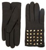 Valentino Pyramid Leather Gloves