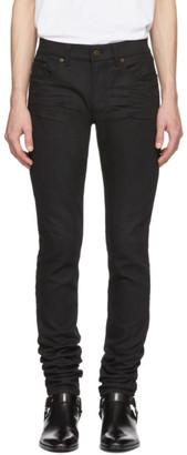 Saint Laurent Black Skinny 5 Pocket Medium Jeans