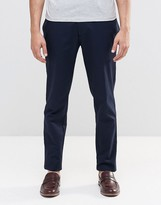 Asos Skinny Smart Chino Trousers In Navy