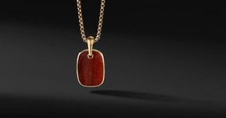 David Yurman Tablet Amulet In 18K Yellow Gold With Red Tiger's Eye