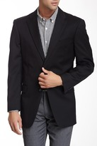 Tommy Hilfiger Adams Black Sharkskin Two Button Notch Lapel Wool Blazer