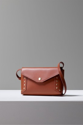 French Connection Bruna Recycled Leather Studded Crossbody Bag