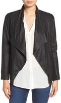 BB Dakota Drape Front Leather Jacket