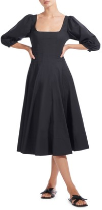 STAUD Swells Midi Dress