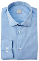 Ike Behar Blue Brushed Dress Shirt