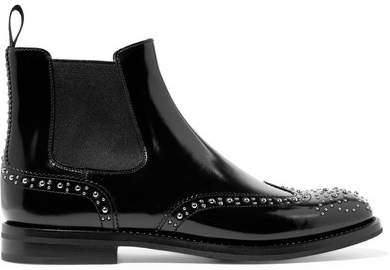 Church's Ketsby Met Studded Glossed-leather Chelsea Boots - Black