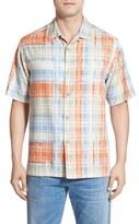 Tommy Bahama 'Island Zone Plaid' Original Fit Silk Blend Camp Shirt