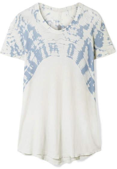 Raquel Allegra Oversized Tie-dyed Cotton-jersey T-shirt - Blue