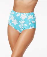MICHAEL Michael Kors Floral Vine Printed High-Waist Bikini Bottoms