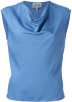 Armani Collezioni draped neck top - women - Silk/Spandex/Elastane - 42
