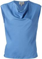 Armani Collezioni draped neck top