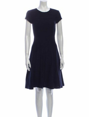 Ted Baker Crew Neck Knee-Length Dress w/ Tags Blue