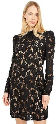 WAYF Erika Puff Sleeve Dress (Black) Women's Dress