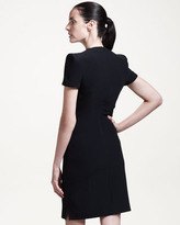 Alexander McQueen Short-Sleeve Dress with Side Slit