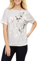 Phase Eight Orina Flora Print Top, Grey/Multi