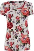 Oasis Coral Rose Tuck Sleeve Tee