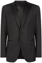 Jaeger Wool Mohair Regular Fit Dinner Suit Jacket, Black