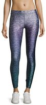 Terez Heathered Ombre Performance Leggings, Purple Pattern