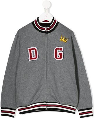 Dolce & Gabbana Kids Millenials patchwork bomber jacket