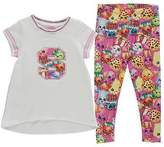 Character Kids 2 Piece Jersey Tee Shirt Top Infant Girls Trousers Pants Bottoms