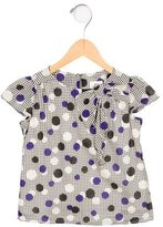 Milly Minis Girls' Polka Dot Bow-Adorned Top