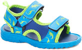 Lilly Of New York LILLY of NEW YORK Boys' Sandals BLUE - Blue & Green Dino Sandal - Boys