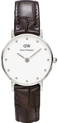 Daniel Wellington DW00100069 Classy York stainless-steel and leather quartz watch