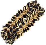Mela Artisans Petals Black & Gold Bracelet
