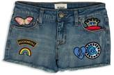 Hudson Girls' Frayed Appliquéd Denim Shorts - Sizes 2-16