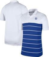 Nike Men's White/Royal Duke Blue Devils Striped Polo