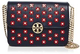 Tory Burch Duet Chain Embellished Leather Shoulder Bag