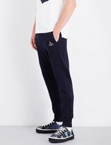 Vivienne Westwood Embroidered skinny cotton-jersey jogging bottoms