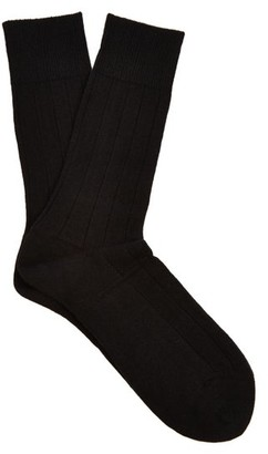 Falke Lhasa Wool And Cashmere-blend Socks - Black