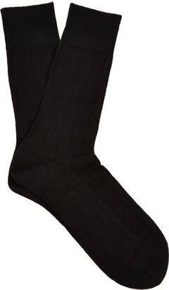 Falke Lhasa Wool And Cashmere Blend Socks - Mens - Black