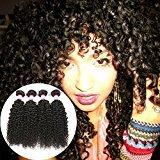 BP B&P Hair Malaysian Curly Hair 4 Bundles 7A Virgin Human Hair Extensions (18 20 22 24)