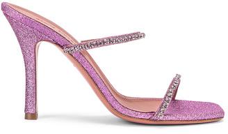 Amina Muaddi Gilda Mini Glitter Slipper in Unicorn | FWRD