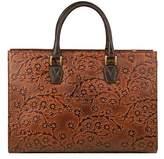 Scully Women's Floral Embossed Shoulder Bag B170