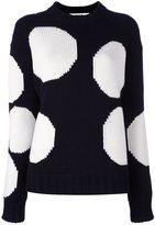 MSGM circle intarsia sweater