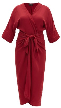 Haight Ana Knotted Crepe Cover Up - Burgundy
